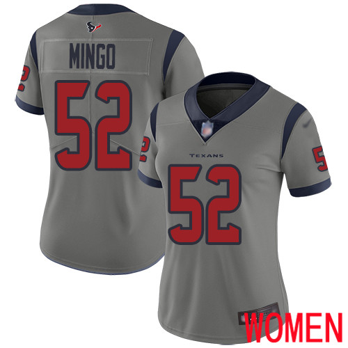 Houston Texans Limited Gray Women Barkevious Mingo Jersey NFL Football 52 Inverted Legend