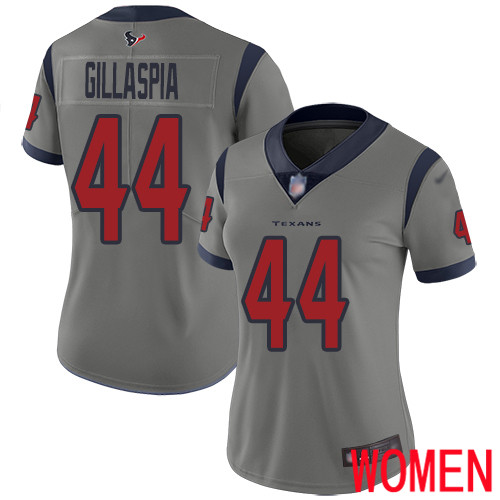 Houston Texans Limited Gray Women Cullen Gillaspia Jersey NFL Football 44 Inverted Legend