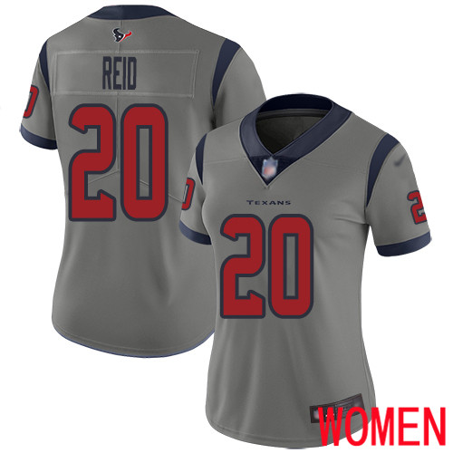 Houston Texans Limited Gray Women Justin Reid Jersey NFL Football 20 Inverted Legend