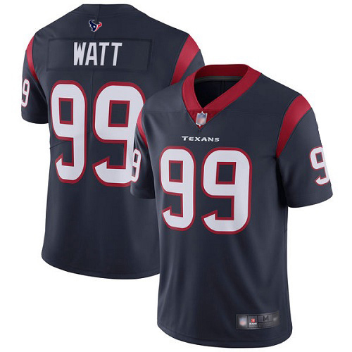 Houston Texans Limited Navy Blue Men J J Watt Home Jersey NFL Football 99 Vapor Untouchable