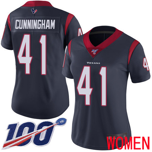 Houston Texans Limited Navy Blue Women Zach Cunningham Home Jersey NFL Football 41 100th Season Vapor Untouchable
