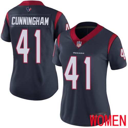 Houston Texans Limited Navy Blue Women Zach Cunningham Home Jersey NFL Football 41 Vapor Untouchable