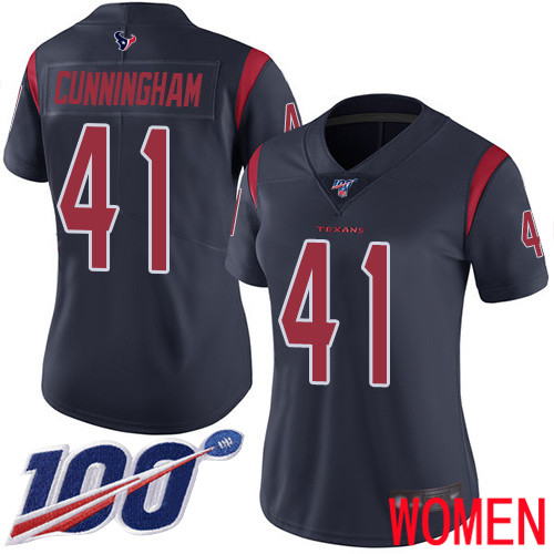 Houston Texans Limited Navy Blue Women Zach Cunningham Jersey NFL Football 41 100th Season Rush Vapor Untouchable