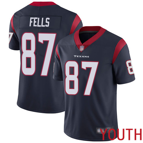 Houston Texans Limited Navy Blue Youth Darren Fells Home Jersey NFL Football 87 Vapor Untouchable
