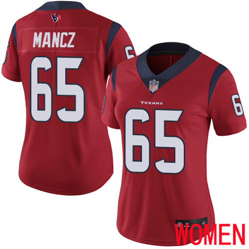 Houston Texans Limited Red Women Greg Mancz Alternate Jersey NFL Football 65 Vapor Untouchable