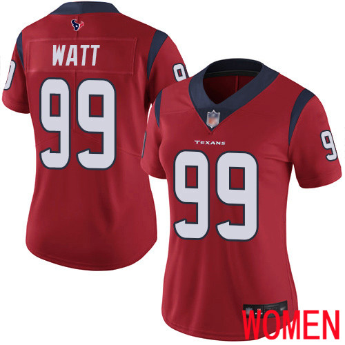 Houston Texans Limited Red Women J J Watt Alternate Jersey NFL Football 99 Vapor Untouchable