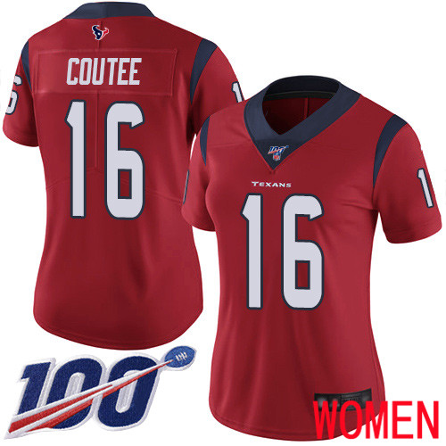 Houston Texans Limited Red Women Keke Coutee Alternate Jersey NFL Football 16 100th Season Vapor Untouchable