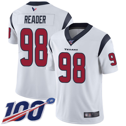 Houston Texans Limited White Men D J Reader Road Jersey NFL Football 98 100th Season Vapor Untouchable