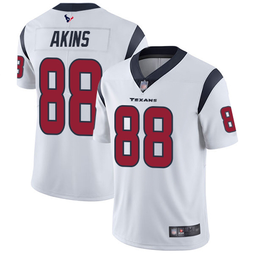 Houston Texans Limited White Men Jordan Akins Road Jersey NFL Football 88 Vapor Untouchable