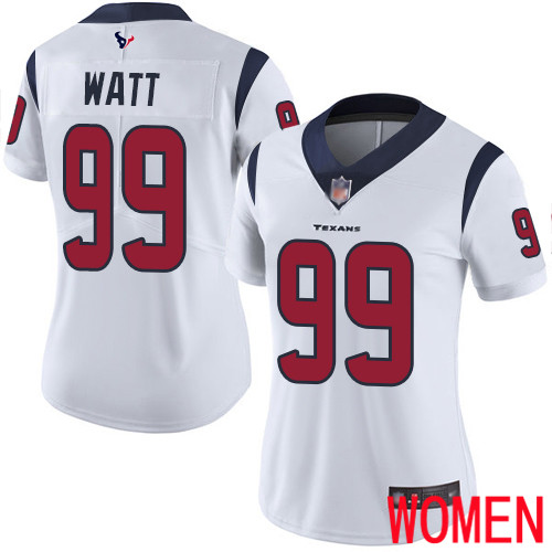 Houston Texans Limited White Women J J Watt Road Jersey NFL Football 99 Vapor Untouchable