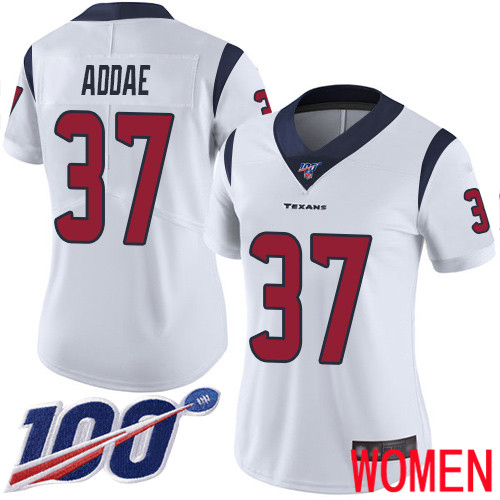 Houston Texans Limited White Women Jahleel Addae Road Jersey NFL Football 37 100th Season Vapor Untouchable