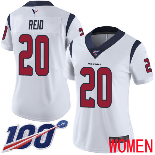 Houston Texans Limited White Women Justin Reid Road Jersey NFL Football 20 100th Season Vapor Untouchable