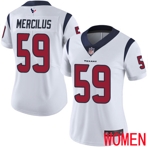 Houston Texans Limited White Women Whitney Mercilus Road Jersey NFL Football 59 Vapor Untouchable