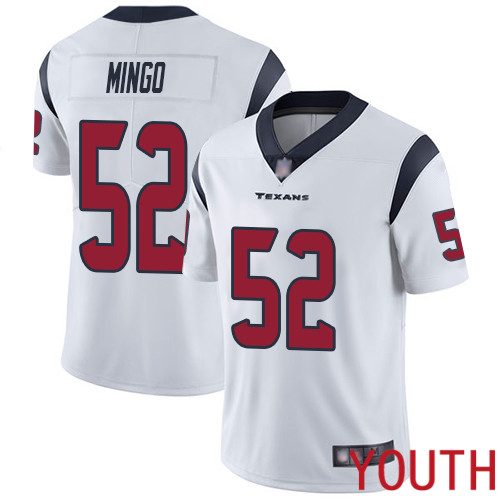 Houston Texans Limited White Youth Barkevious Mingo Road Jersey NFL Football 52 Vapor Untouchable