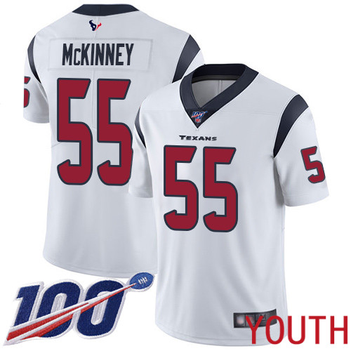 Houston Texans Limited White Youth Benardrick McKinney Road Jersey NFL Football 55 100th Season Vapor Untouchable