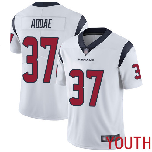 Houston Texans Limited White Youth Jahleel Addae Road Jersey NFL Football 37 Vapor Untouchable