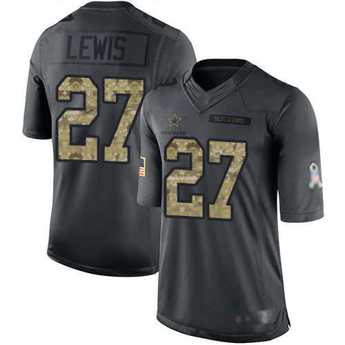 Men Dallas Cowboys Limited Black Jourdan Lewis 27 2016 Salute to Service NFL Jersey