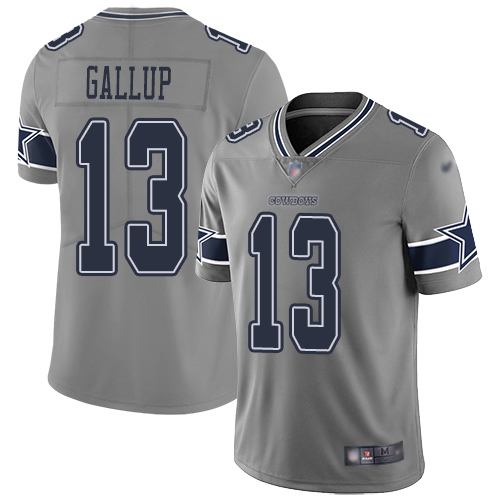 Men Dallas Cowboys Limited Gray Michael Gallup 13 Inverted Legend NFL Jersey