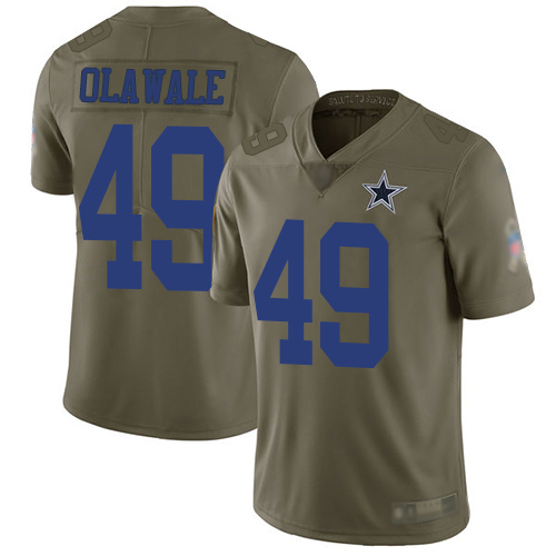 Men Dallas Cowboys Limited Olive Jamize Olawale 49 2017 Salute to Service NFL Jersey