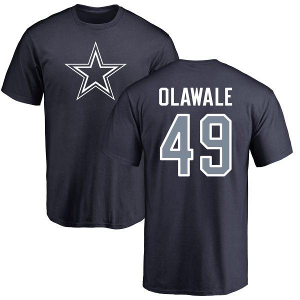 Men Dallas Cowboys Navy Blue Jamize Olawale Name and Number Logo 49 Nike NFL T Shirt