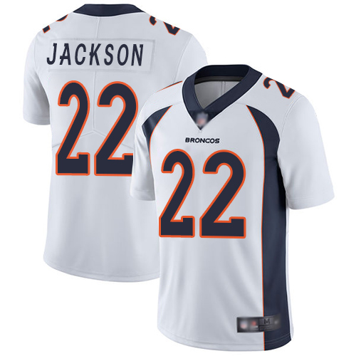 Men Denver Broncos 22 Kareem Jackson White Vapor Untouchable Limited Player Football NFL Jersey