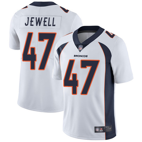 Men Denver Broncos 47 Josey Jewell White Vapor Untouchable Limited Player Football NFL Jersey