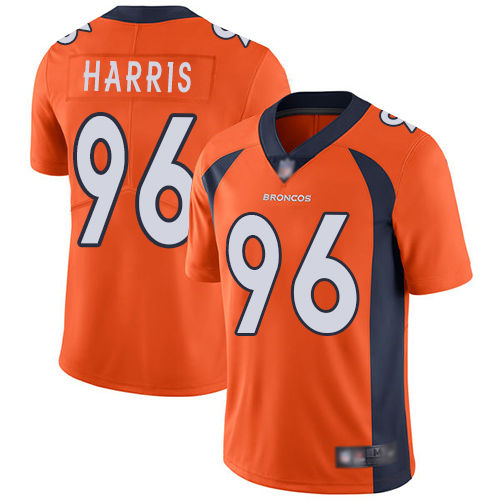 Men Denver Broncos 96 Shelby Harris Orange Team Color Vapor Untouchable Limited Player Football NFL Jersey