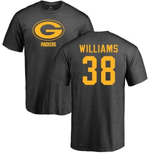 Men Green Bay Packers Ash 38 Williams Tramon One Color Nike NFL T Shirt