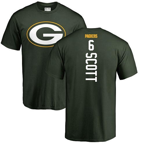 Men Green Bay Packers Green 6 Scott J K Backer Nike NFL T Shirt