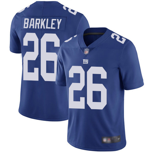 Men New York Giants 26 Saquon Barkley Royal Blue Team Color Vapor Untouchable Limited Player Football NFL Jersey