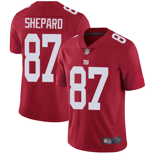 Men New York Giants 87 Sterling Shepard Red Limited Red Inverted Legend Football NFL Jersey