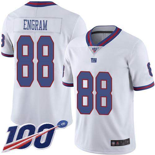 Men New York Giants 88 Evan Engram Limited White Rush Vapor Untouchable 100th Season Football NFL Jersey