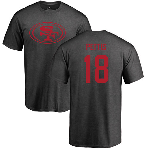 Men San Francisco 49ers Ash Dante Pettis One Color 18 NFL T Shirt
