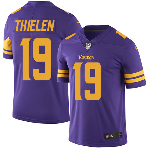 Minnesota Vikings 19 Limited Adam Thielen Purple Nike NFL Men Jersey Rush Vapor Untouchable