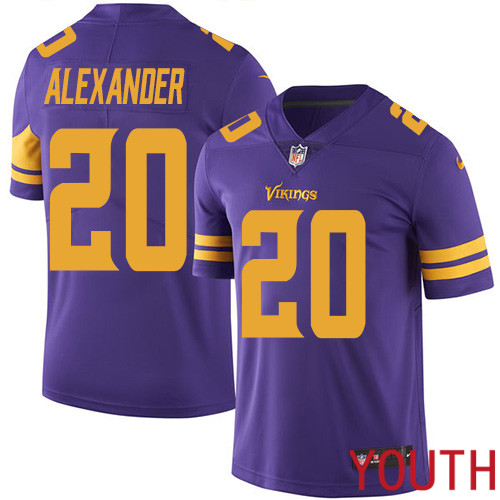 Minnesota Vikings 20 Limited Mackensie Alexander Purple Nike NFL Youth Jersey Rush Vapor Untouchable