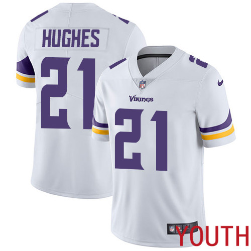 Minnesota Vikings 21 Limited Mike Hughes White Nike NFL Road Youth Jersey Vapor Untouchable