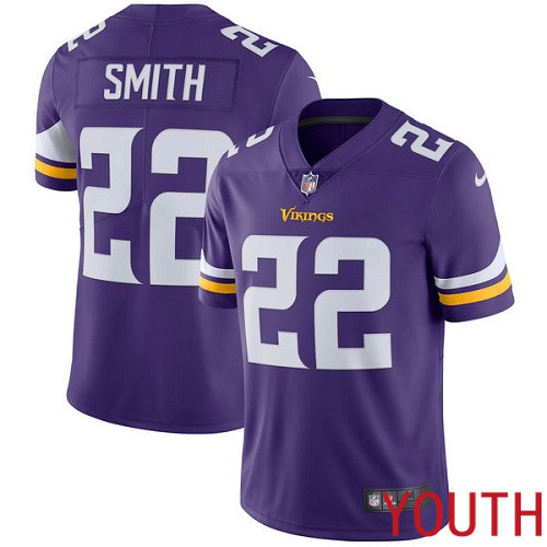 Minnesota Vikings 22 Limited Harrison Smith Purple Nike NFL Home Youth Jersey Vapor Untouchable