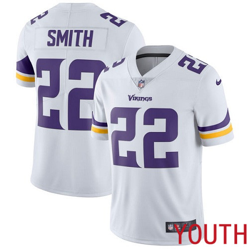 Minnesota Vikings 22 Limited Harrison Smith White Nike NFL Road Youth Jersey Vapor Untouchable
