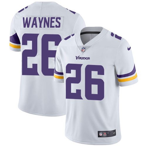 Minnesota Vikings 26 Limited Trae Waynes White Nike NFL Road Men Jersey Vapor Untouchable