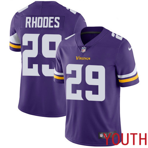Minnesota Vikings 29 Limited Xavier Rhodes Purple Nike NFL Home Youth Jersey Vapor Untouchable