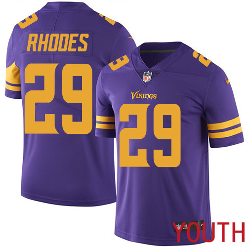 Minnesota Vikings 29 Limited Xavier Rhodes Purple Nike NFL Youth Jersey Rush Vapor Untouchable