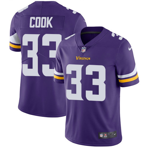 Minnesota Vikings 33 Limited Dalvin Cook Purple Nike NFL Home Men Jersey Vapor Untouchable