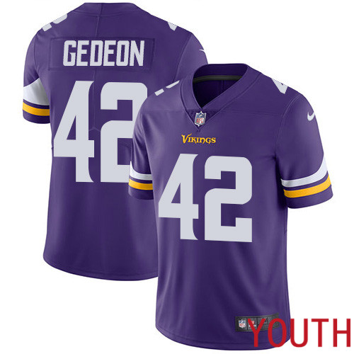 Minnesota Vikings 42 Limited Ben Gedeon Purple Nike NFL Home Youth Jersey Vapor Untouchable