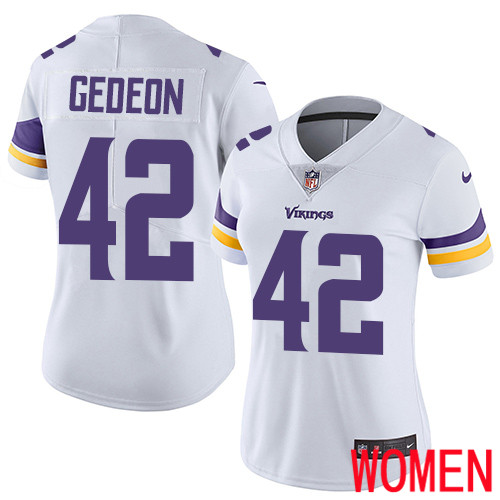 Minnesota Vikings 42 Limited Ben Gedeon White Nike NFL Road Women Jersey Vapor Untouchable