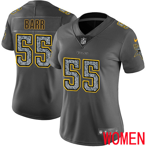 Minnesota Vikings 55 Limited Anthony Barr Gray Static Nike NFL Women Jersey Vapor Untouchable