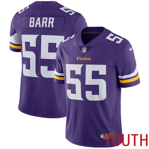 Minnesota Vikings 55 Limited Anthony Barr Purple Nike NFL Home Youth Jersey Vapor Untouchable
