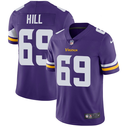 Minnesota Vikings 69 Limited Rashod Hill Purple Nike NFL Home Men Jersey Vapor Untouchable
