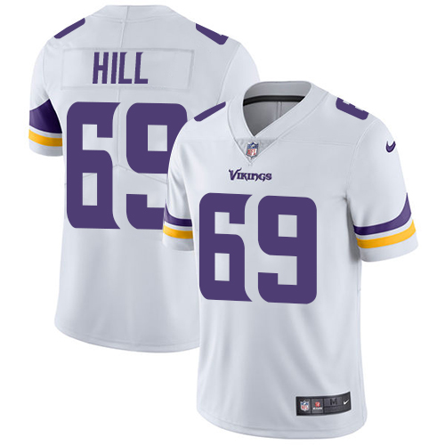 Minnesota Vikings 69 Limited Rashod Hill White Nike NFL Road Men Jersey Vapor Untouchable