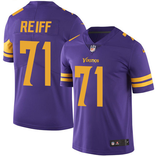 Minnesota Vikings 71 Limited Riley Reiff Purple Nike NFL Men Jersey Rush Vapor Untouchable