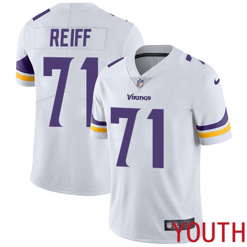 Minnesota Vikings 71 Limited Riley Reiff White Nike NFL Road Youth Jersey Vapor Untouchable